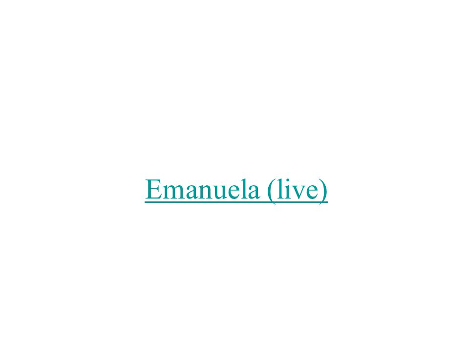 In a group, translate the first strophe of Emanuela