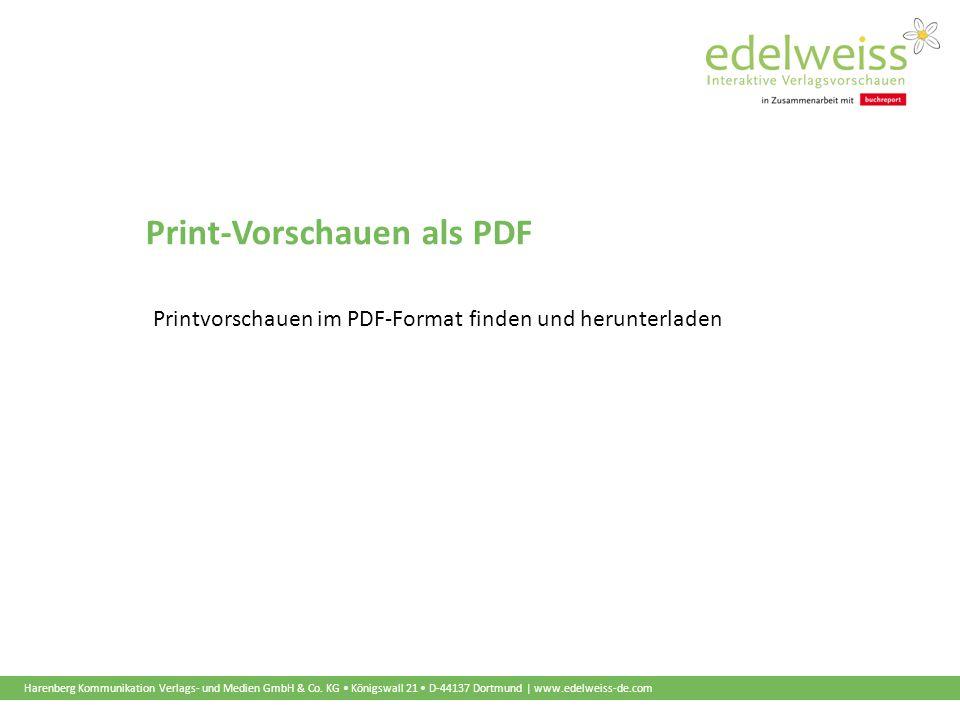 Harenberg Kommunikation Verlags- und Medien GmbH & Co. KG Königswall 21 D-44137 Dortmund | www.edelweiss-de.com Print-Vorschauen als PDF Printvorschau