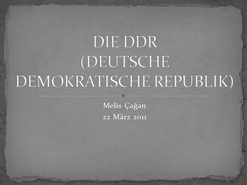 Die Deutsche Demokratische Republik war ein realsozialistischer Staat, der nach dem Zweiten Weltkrieg auf dem von der UdSSR besetzten Gebiet gegründet wurde.