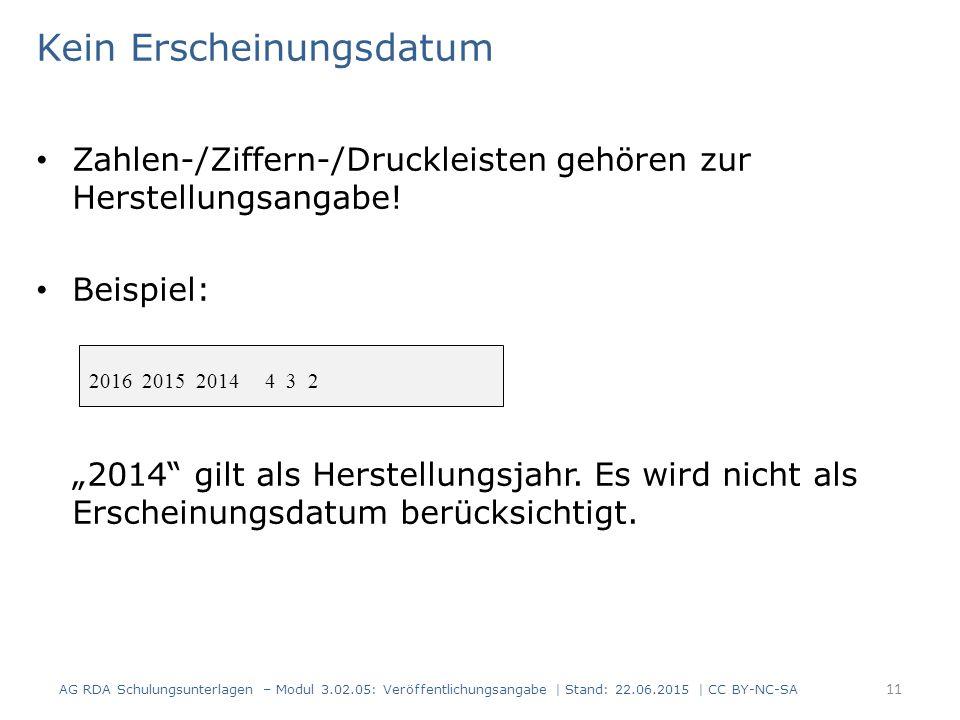 """Kein Erscheinungsdatum Zahlen-/Ziffern-/Druckleisten gehören zur Herstellungsangabe! Beispiel: """"2014"""" gilt als Herstellungsjahr. Es wird nicht als Ers"""