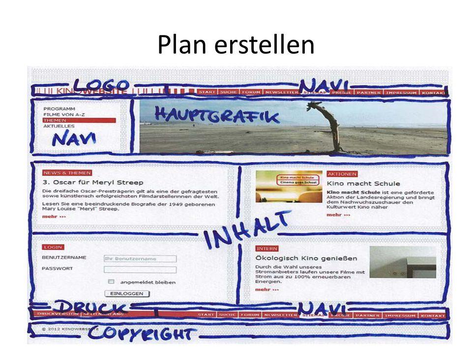 Plan erstellen
