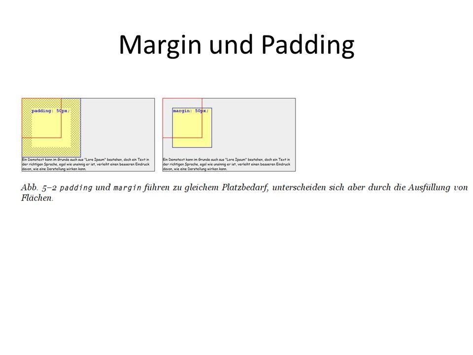 Margin und Padding