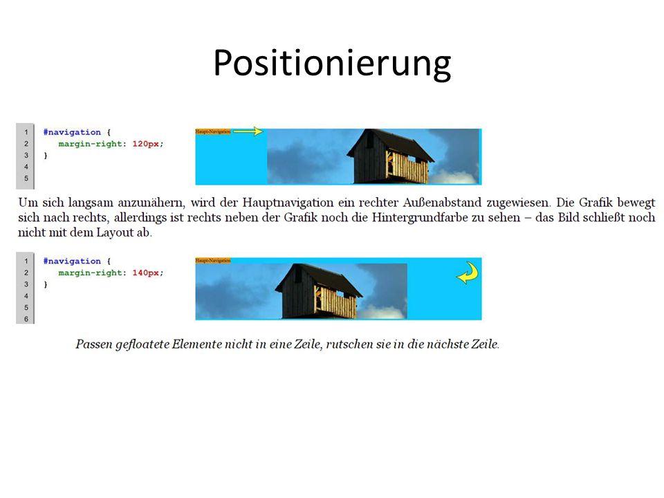 Positionierung