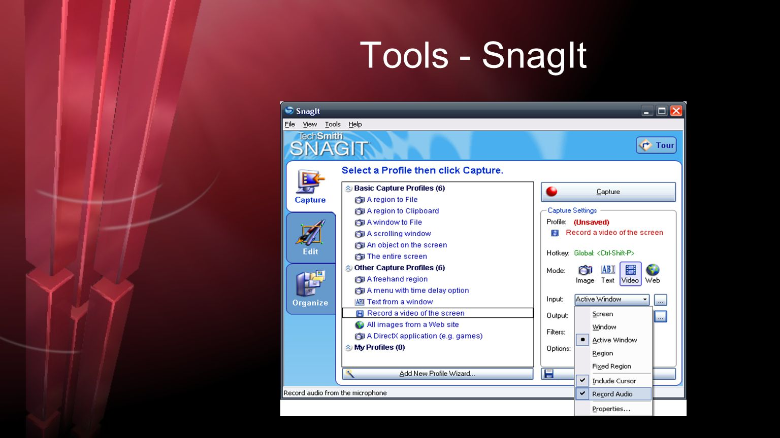 Tools - SnagIt