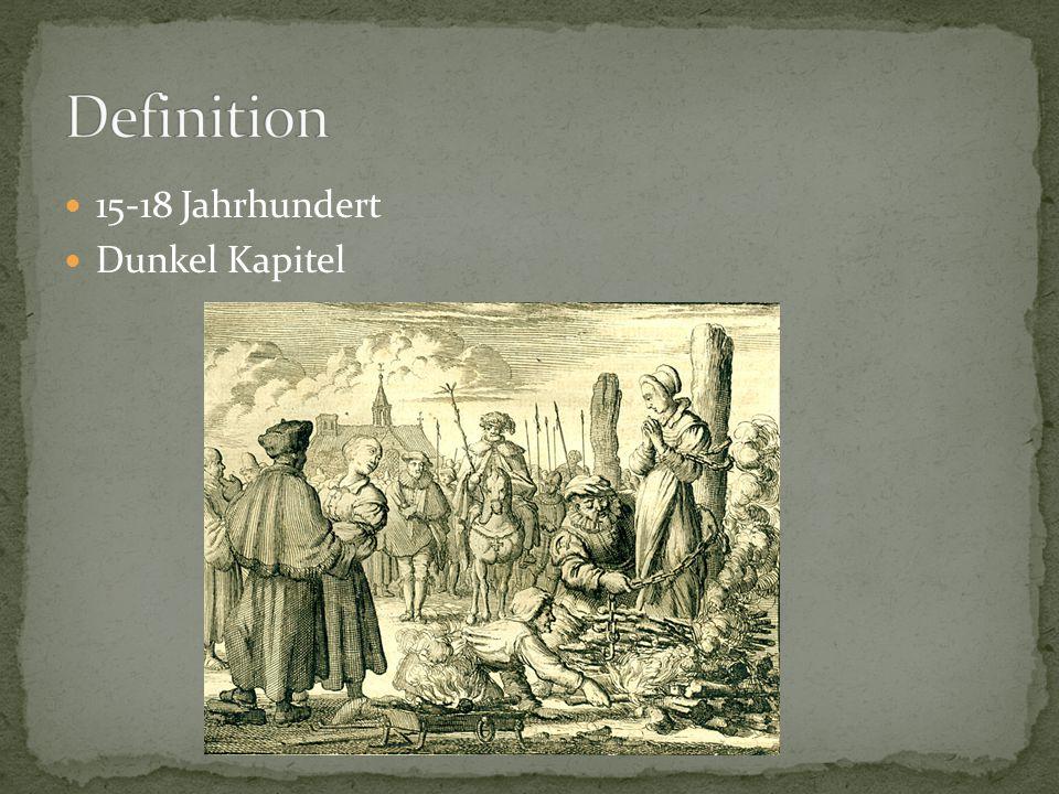 15-18 Jahrhundert Dunkel Kapitel
