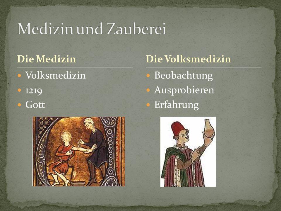 Die Medizin Volksmedizin 1219 Gott Beobachtung Ausprobieren Erfahrung Die Volksmedizin