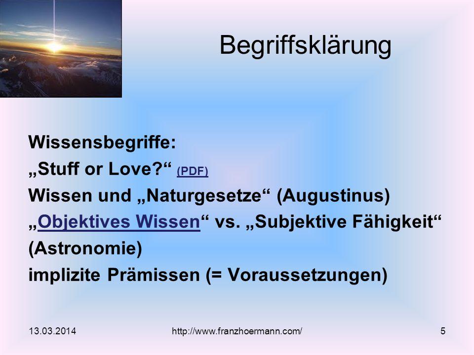 """Wissensbegriffe: """"Stuff or Love (PDF) (PDF) Wissen und """"Naturgesetze (Augustinus) """"Objektives Wissen vs."""
