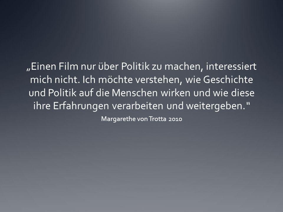 """""""Einen Film nur über Politik zu machen, interessiert mich nicht."""