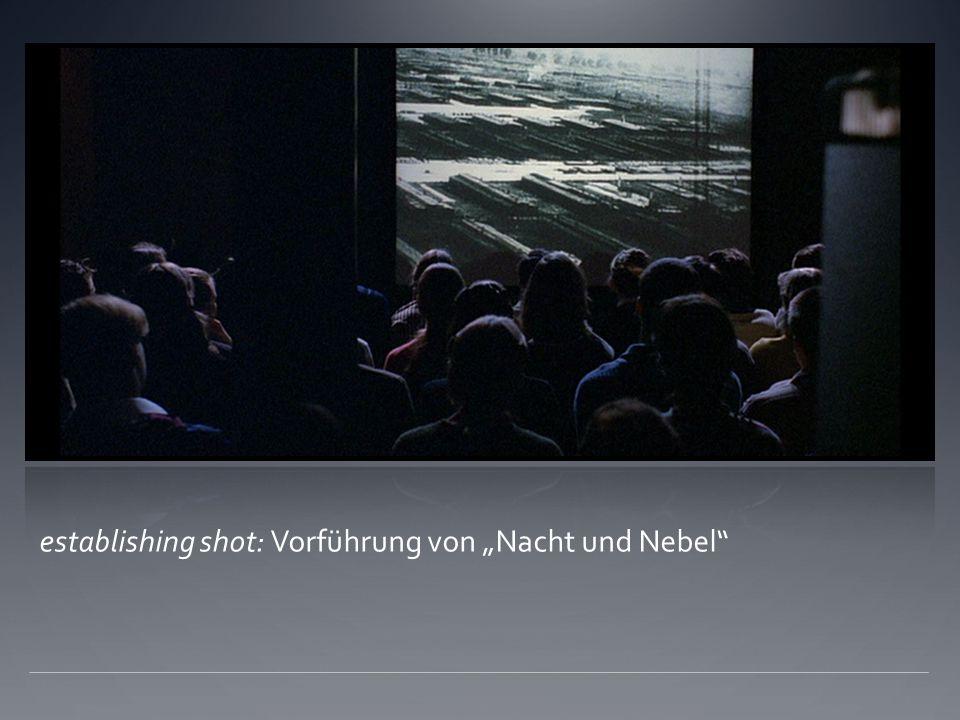 """establishing shot: Vorführung von """"Nacht und Nebel"""
