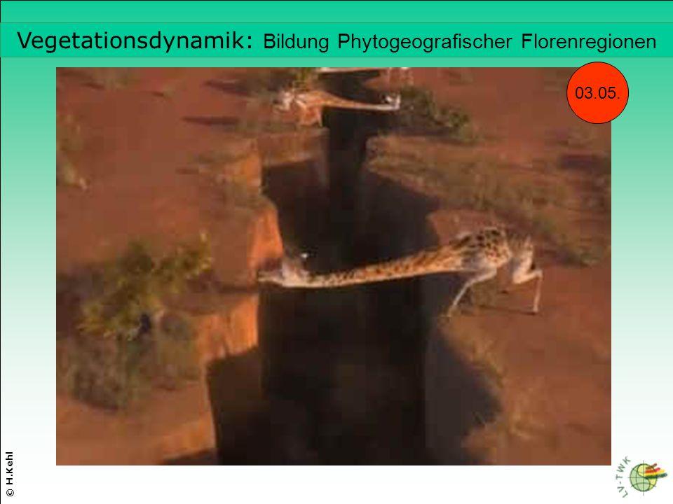 © H.Kehl Vegetationsdynamik: Bildung Phytogeografischer Florenregionen 03.05.