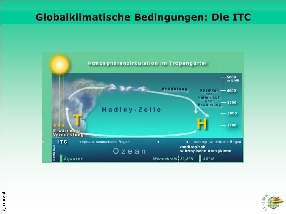 © H.Kehl Globalklimatische Bedingungen: Die ITC