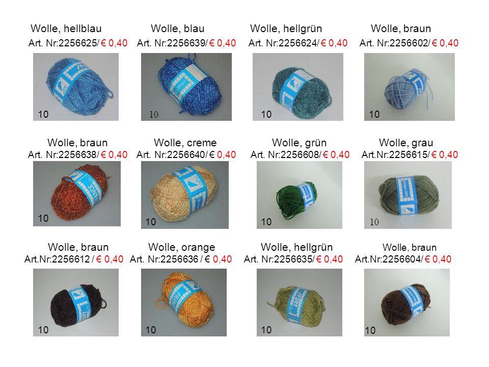 Wolle, hellblau Wolle, blau Wolle, hellgrün Wolle, braun Art.