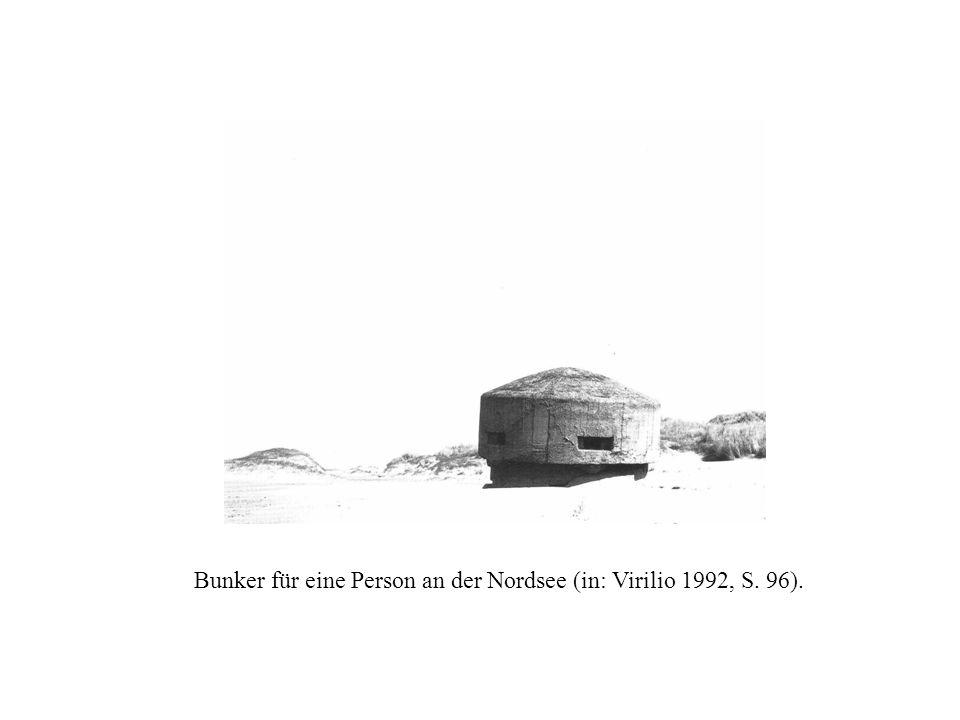Bunker für eine Person an der Nordsee (in: Virilio 1992, S. 96).