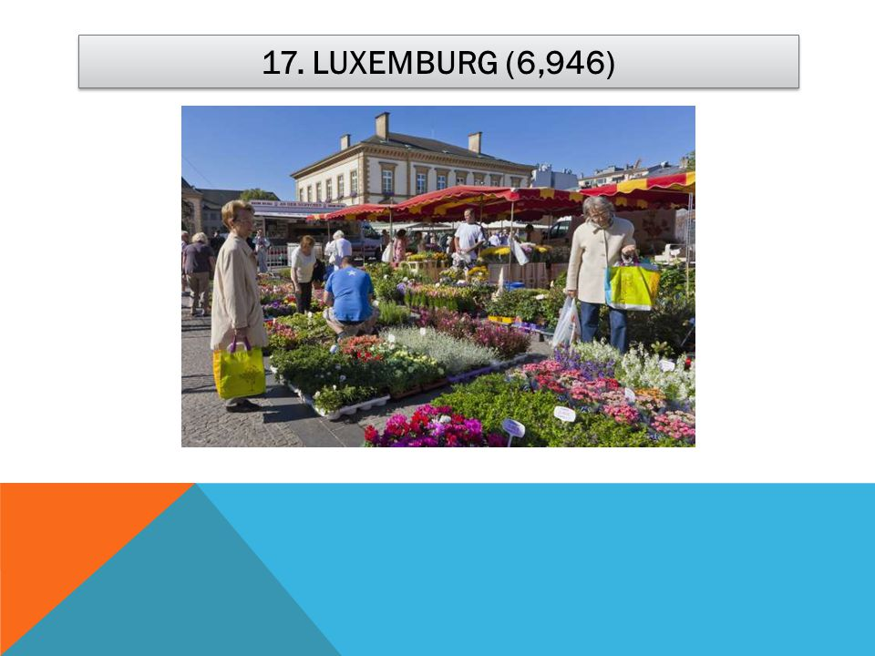 17. LUXEMBURG (6,946)