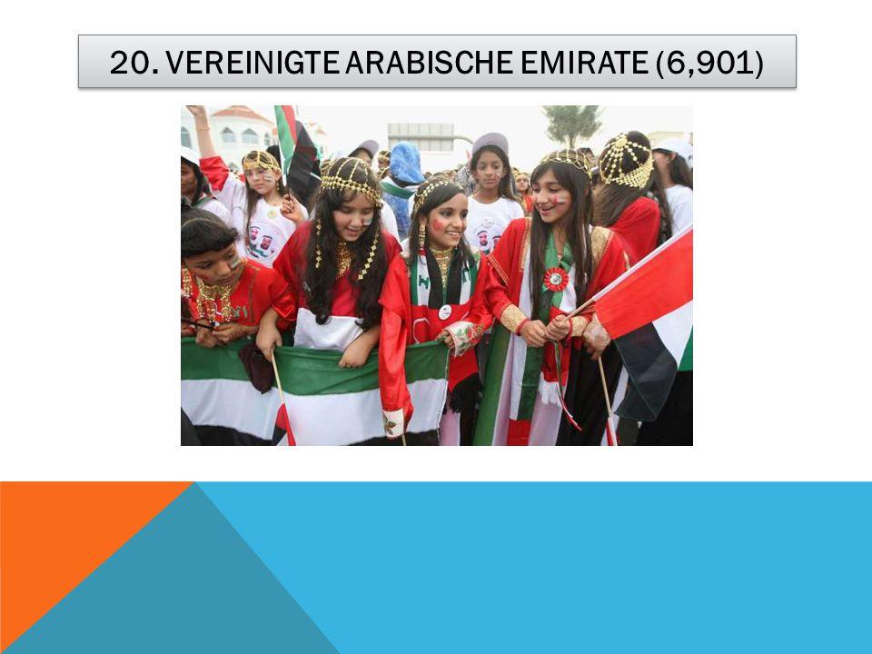 20. VEREINIGTE ARABISCHE EMIRATE (6,901)