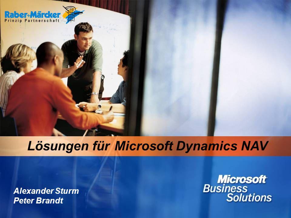 1 Lösungen für Microsoft Dynamics NAV Alexander Sturm Peter Brandt