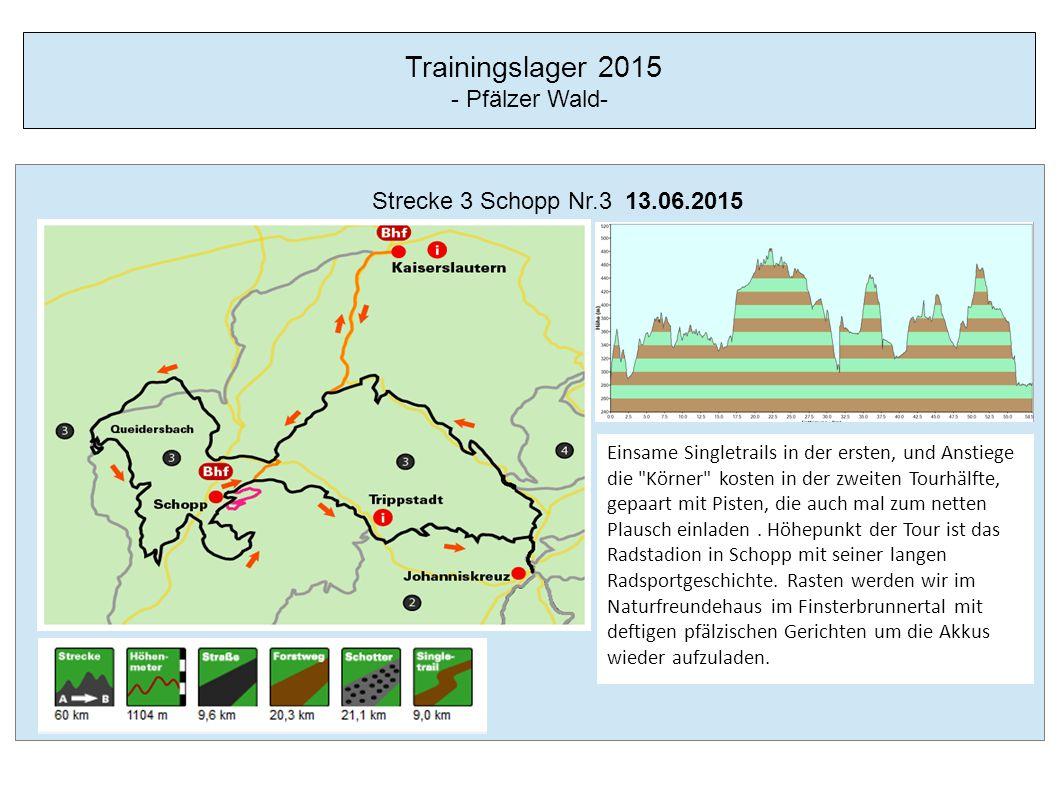 Trainingslager 2015 - Pfälzer Wald- Strecke 4 Rodalben Nr.1 14.06.2015 Zirka 57 km ist die gesamte Tour 1 lang und dabei wollen knapp 1200 Hm vernichtet werden.