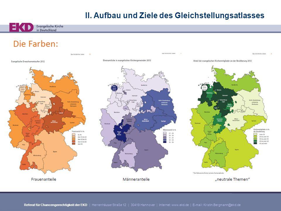 Referat für Chancengerechtigkeit der EKD | Herrenhäuser Straße 12 | 30419 Hannover | Internet: www.ekd.de | E-mail: Kristin.Bergmann@ekd.de II.