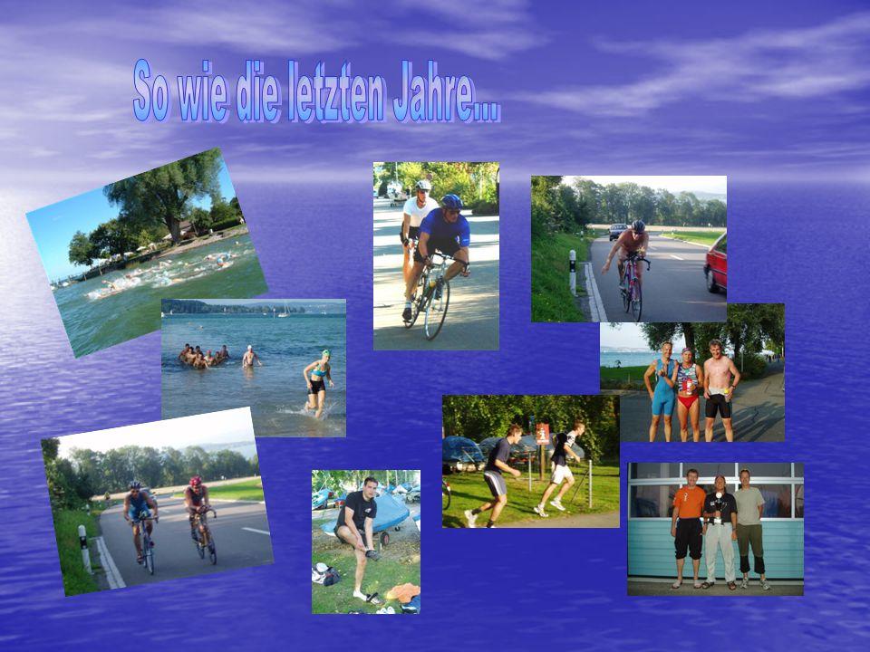 Schwimmen:ca.350 m im See Radfahren:ca. 24 km Laufen:ca.
