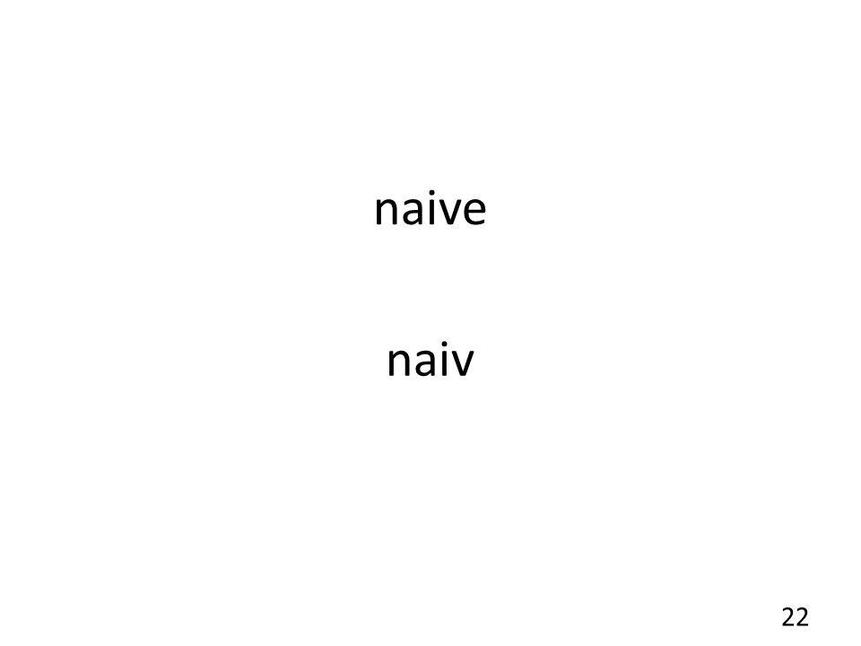 naive naiv 22