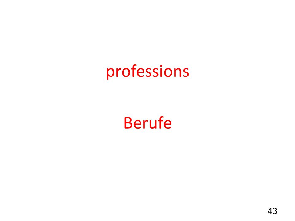 professions Berufe 43