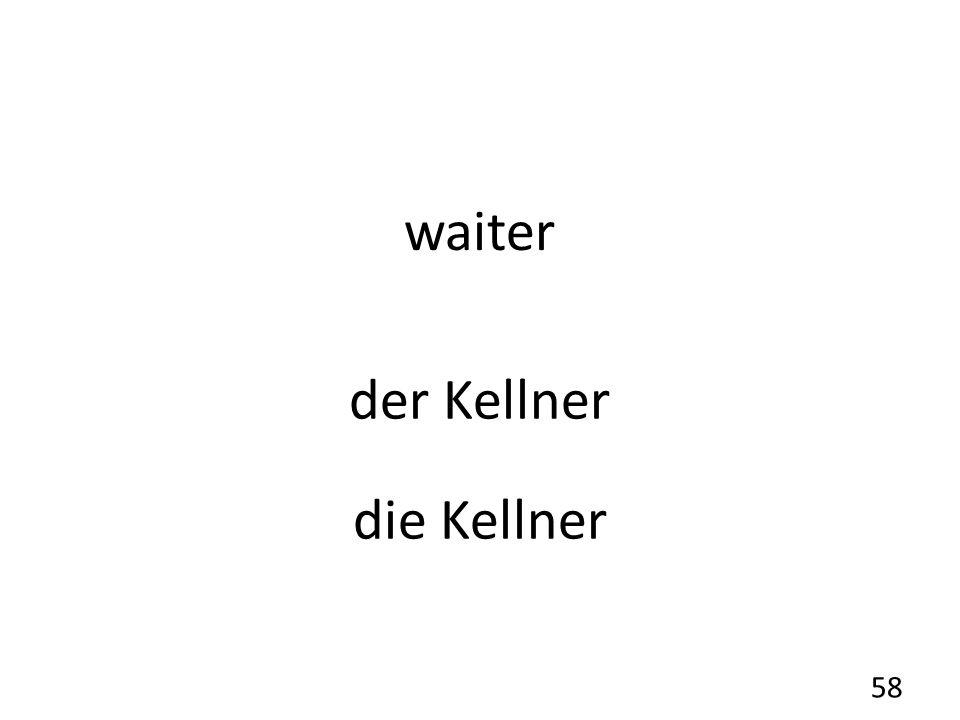 waiter der Kellner die Kellner 58