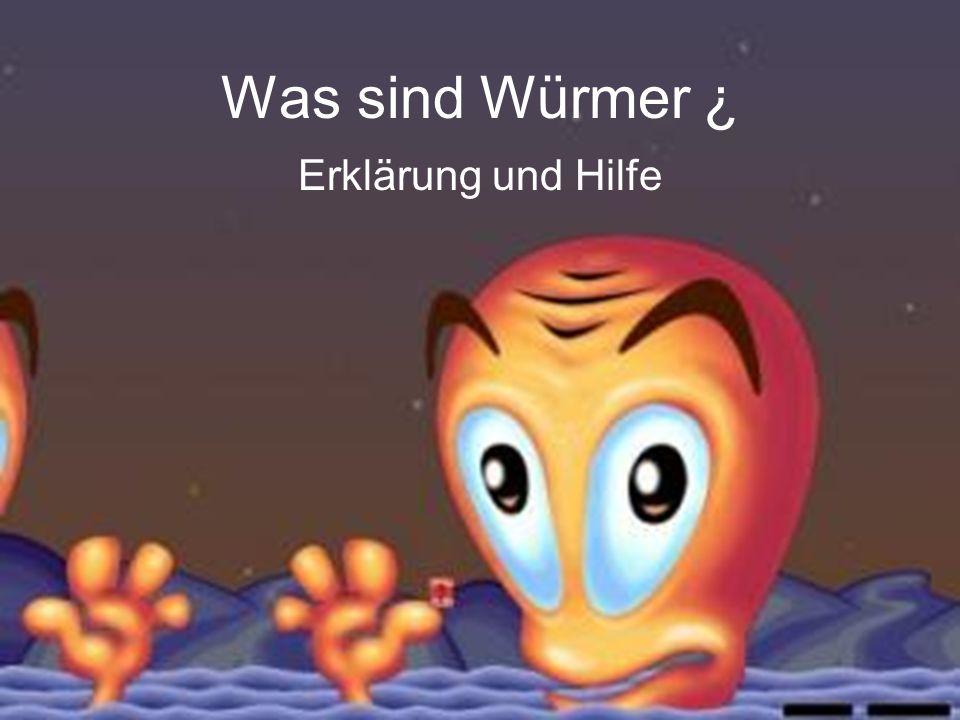 Was sind Würmer ¿ Erklärung und Hilfe
