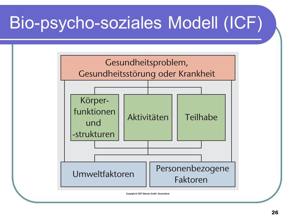 26 Bio-psycho-soziales Modell (ICF)