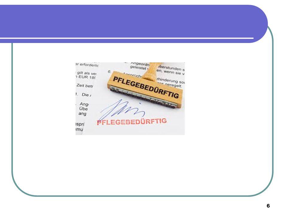 """17 Sonstige Leistungen Sachleistung (""""Sache ist Dienstleistung professioneller Pflegedienste) Kombileistung: Sachleistungen& (gemindertes) Pflegegeld werden kombiniert Einzelpflegekräfte: Vertrag mit selbstständiger Pflegekraft, Abrechnung über Pflegekasse Verhinderungspflege: z."""