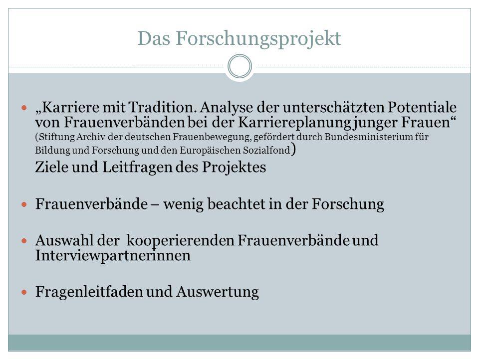 """Das Forschungsprojekt """"Karriere mit Tradition."""
