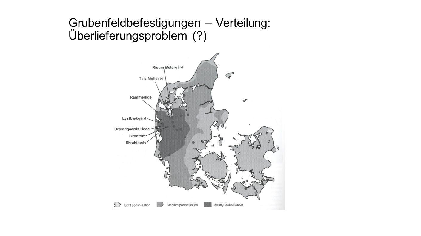 Grubenfeldbefestigungen – Verteilung: Überlieferungsproblem (?)