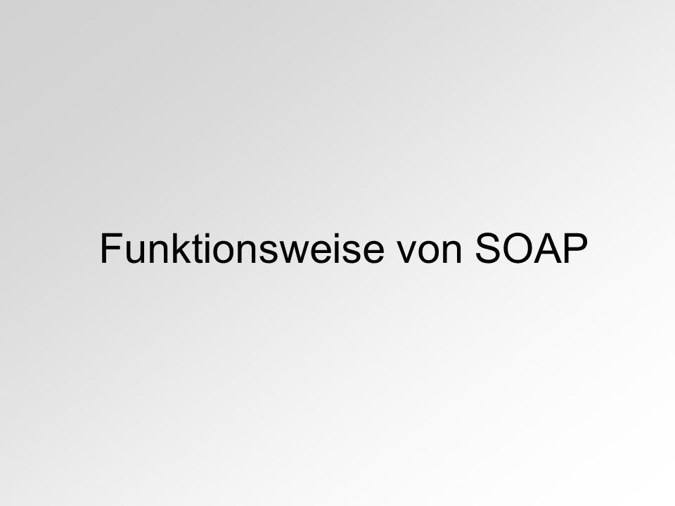 Funktionsweise von SOAP