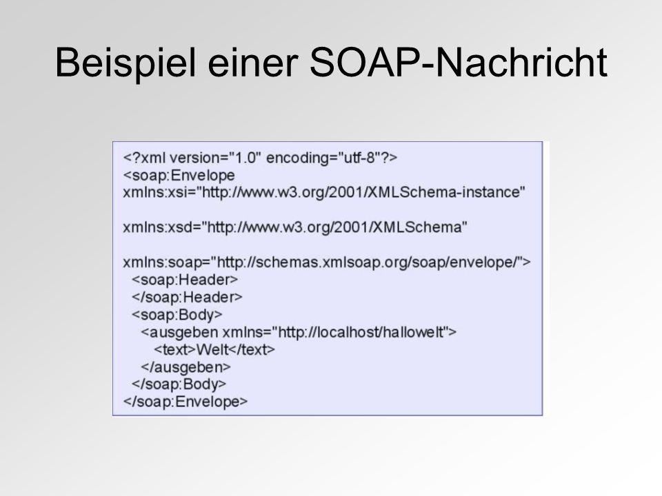 Beispiel einer SOAP-Nachricht