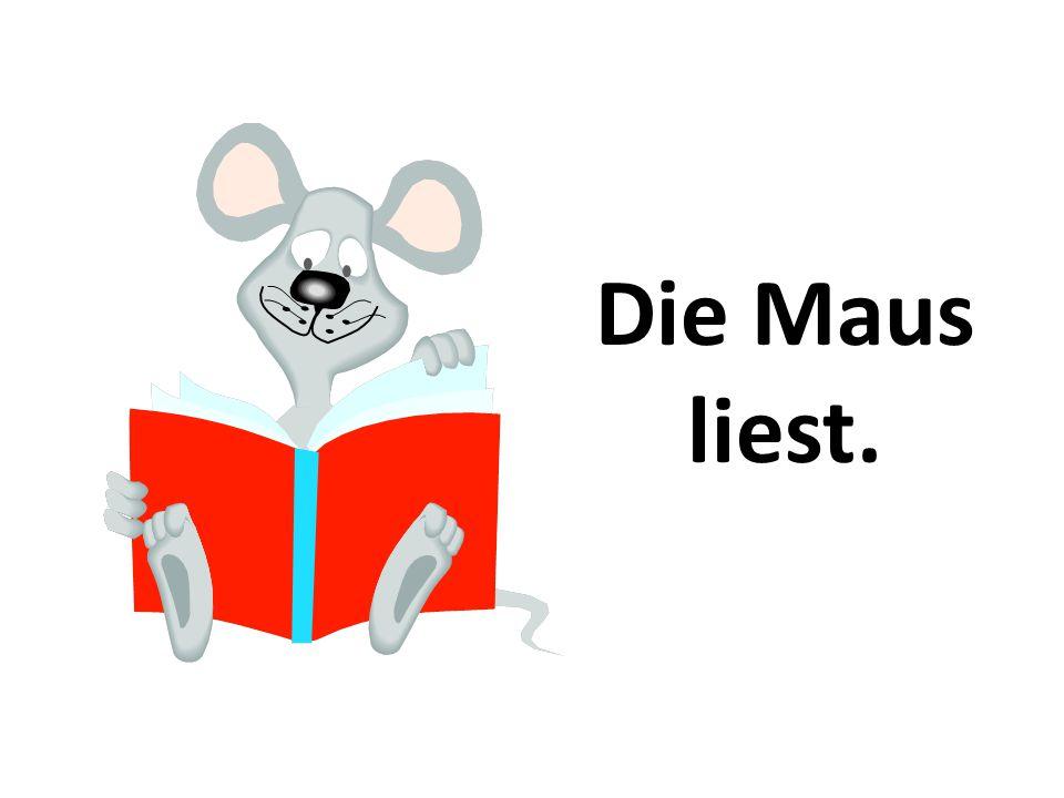 Die Maus liest.