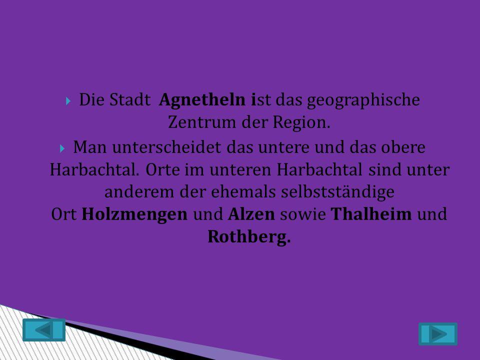  Die Stadt Agnetheln ist das geographische Zentrum der Region.
