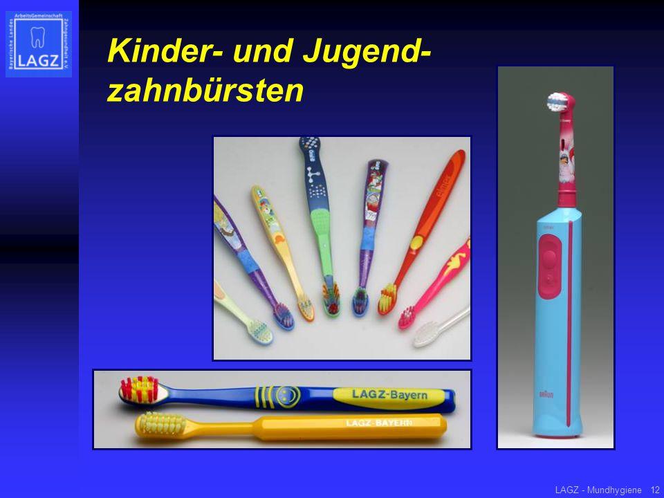 LAGZ - Mundhygiene12 Kinder- und Jugend- zahnbürsten
