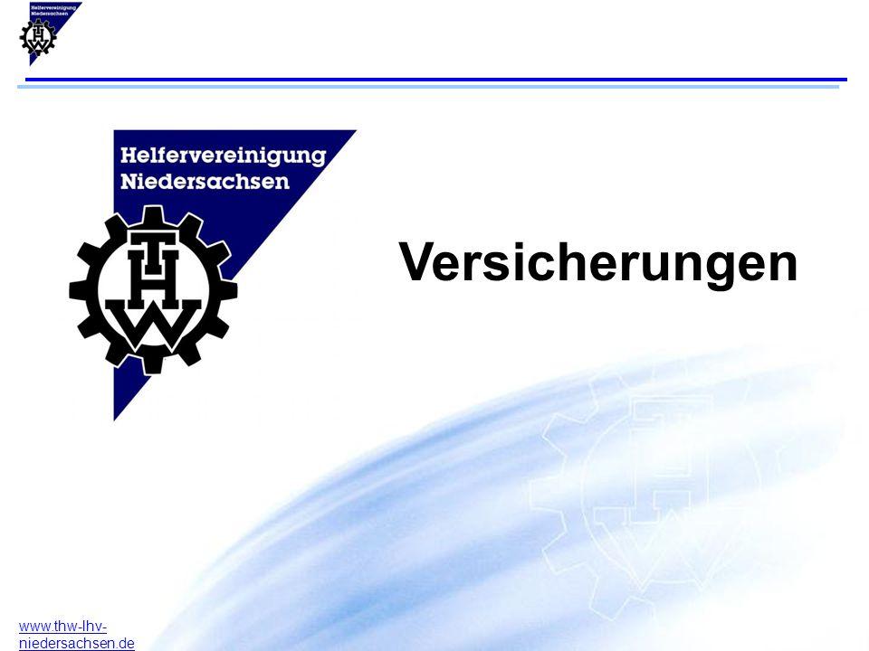 12 www.thw-lhv- niedersachsen.de Versicherungsfall Im Versicherungsfall kontaktieren sie bitte über ihren Vorstand die Landeshelfervereinigung