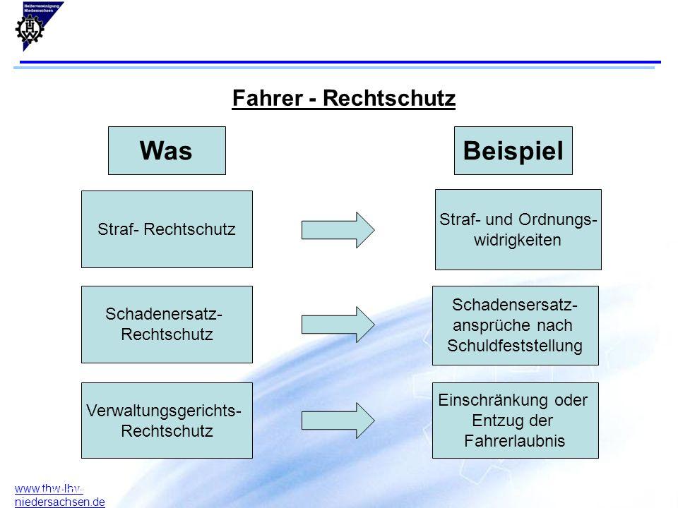 10 www.thw-lhv- niedersachsen.de 17.07.2015F. Arlt B. Rodeck Januar 2004 WasBeispiel Straf- Rechtschutz Schadenersatz- Rechtschutz Verwaltungsgerichts