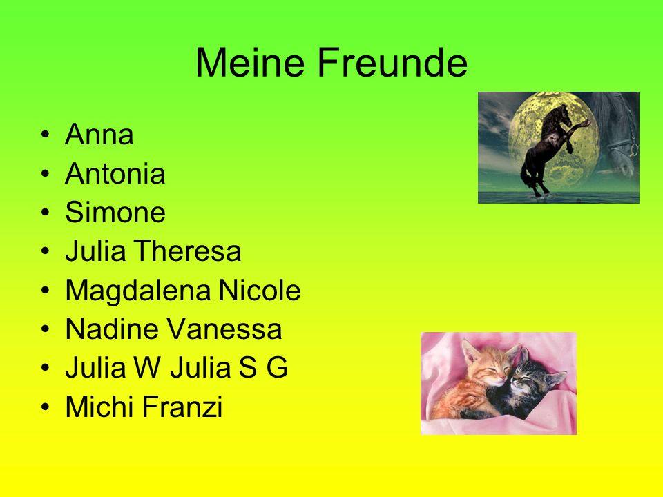 Meine Freunde Anna Antonia Simone Julia Theresa Magdalena Nicole Nadine Vanessa Julia W Julia S G Michi Franzi
