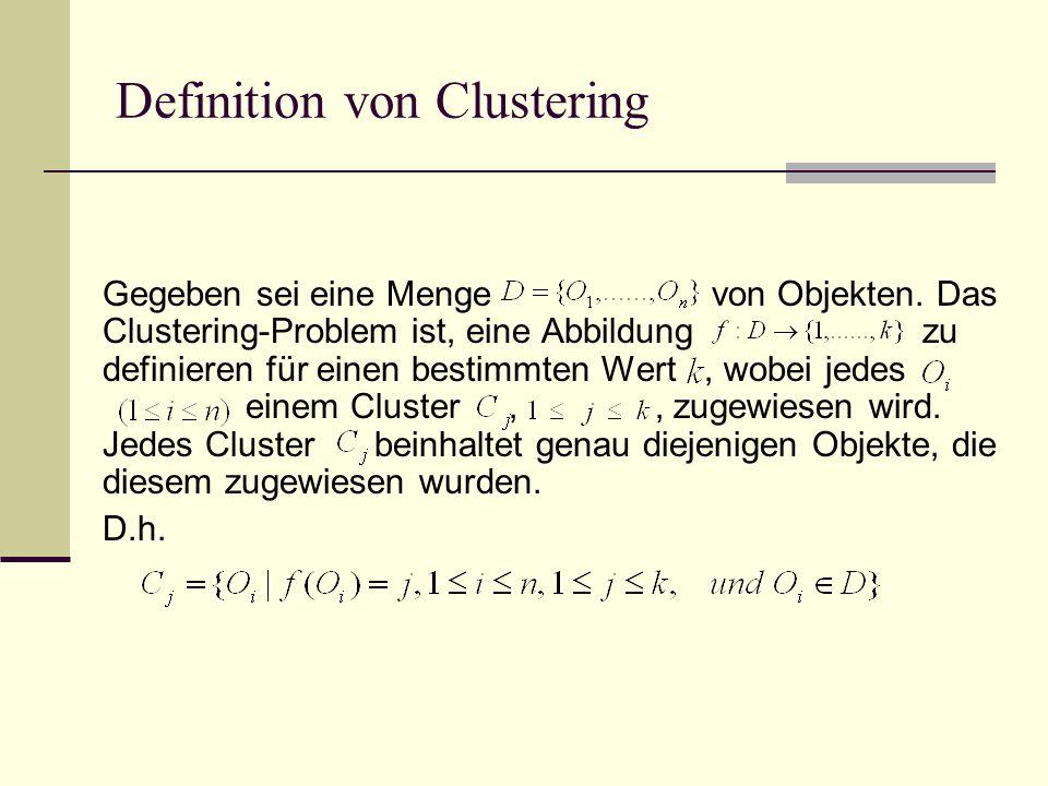 PAM vs. CLARA vs. CLARANS CLARANS Fängt mit Knoten {A,B} an A,B A,C A,D A,E B,C D,E C,E C,D B,E B,D