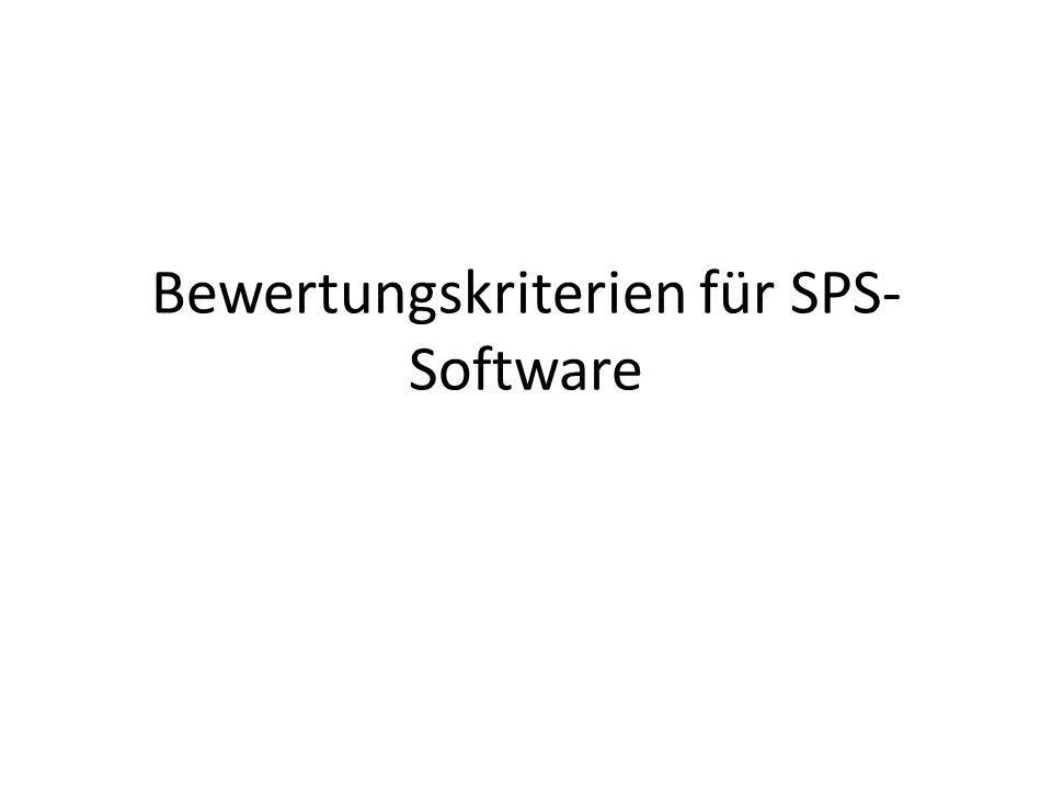 Bewertungskriterien für SPS- Software