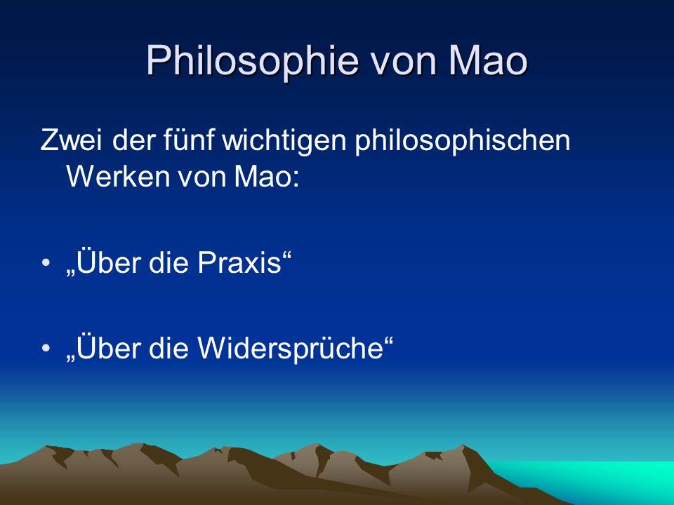 """Philosophie von Mao Zwei der fünf wichtigen philosophischen Werken von Mao: """"Über die Praxis"""" """"Über die Widersprüche"""""""