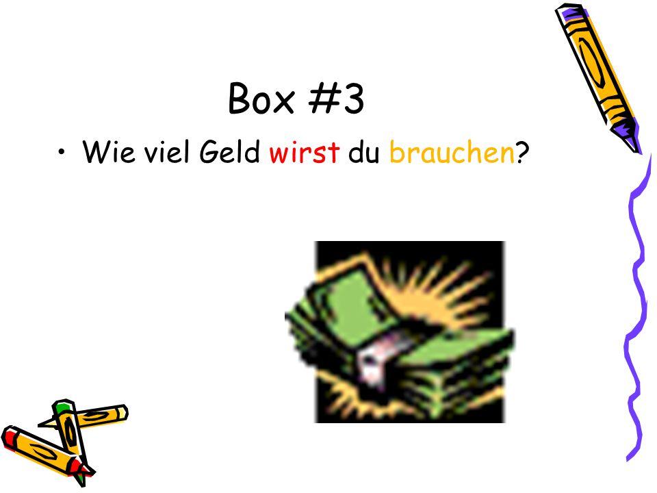 Box #3 Wie viel Geld wirst du brauchen?