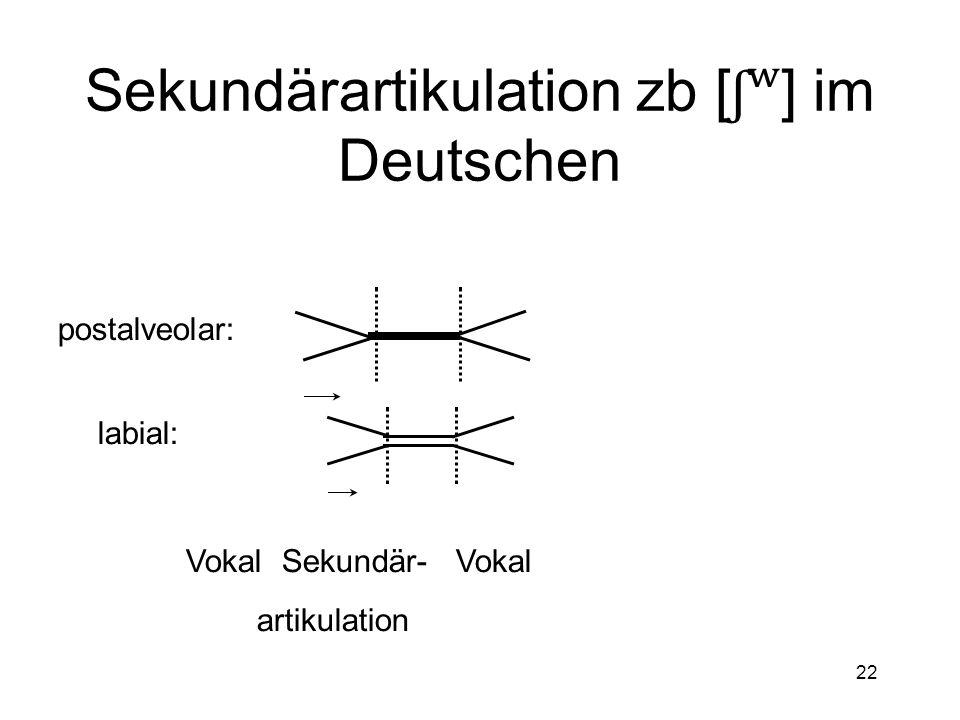 21 Doppelartikulation mehrerer Approximanten zb [w] im Englischen Vokal Doppel- Vokal artikulation velar: labial: