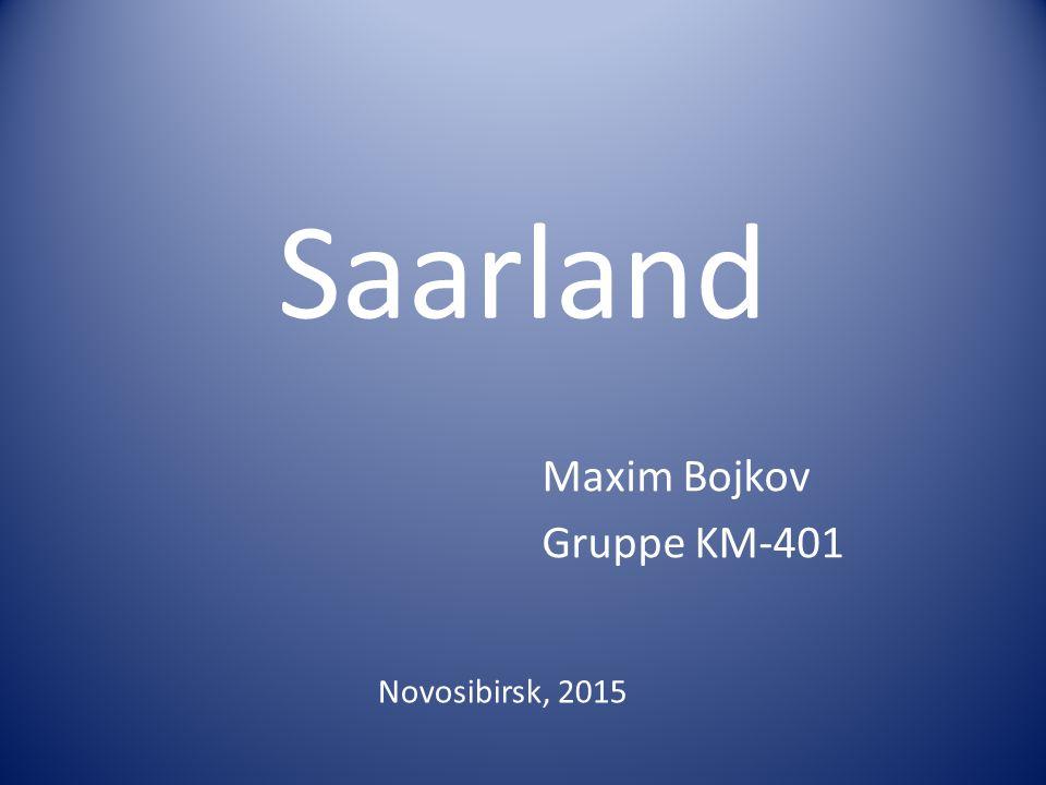 Saarland Maxim Bojkov Gruppe KM-401 Novosibirsk, 2015