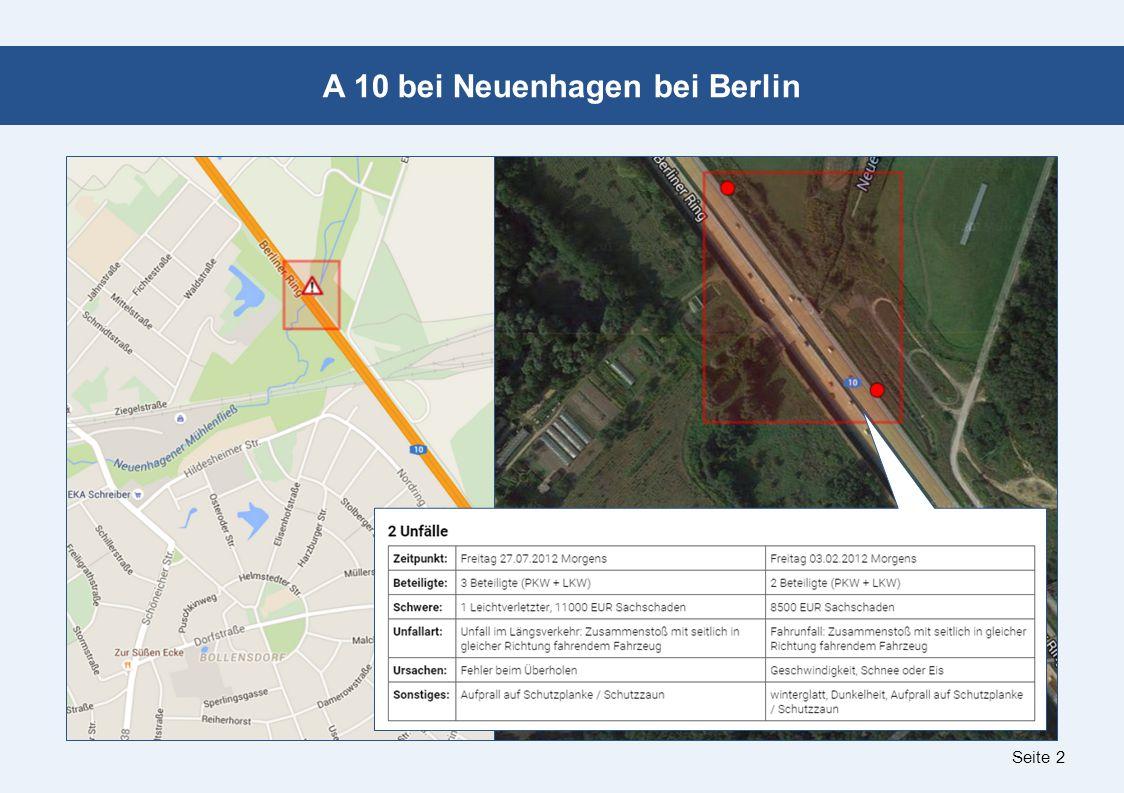 Seite 2 A 10 bei Neuenhagen bei Berlin