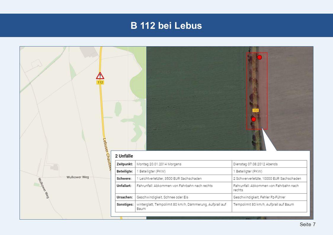 Seite 7 B 112 bei Lebus