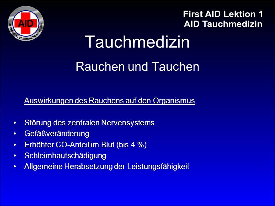 Tauchmedizin Pneuothorax: Verletzung des Lungen- oder Rippenfells mit Lufteintritt in den Pleuraspalt.