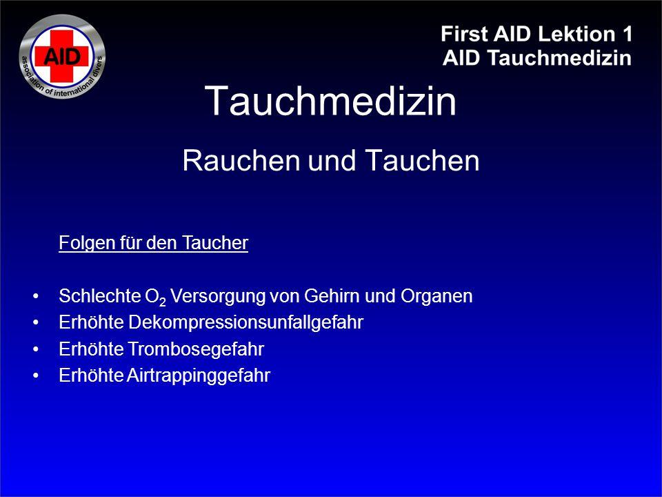 Tauchmedizin Erfrierungsgrade: siehe Tabelle.1.