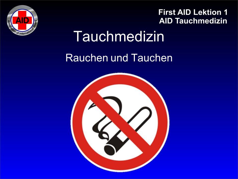 Tauchmedizin Die Atemregulation in Ruhe erfolgt hauptsächlich durch den CO 2 -Partialdruck im Blut.